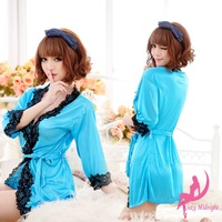 2013 Hot Silk Sexy temptation Women dress clothing set nightgown pajamas women sexy underwear V-neck sleepwear