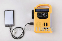 Solar radio, hand crank flashlight, emergency lights, manual mobile phone charger, hand lamp, lamp!