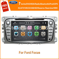 Free shipping 7inchs HD Wide Screen special car DVD player for Ford Focus sliver 2009-2010 with 3G GPS AM FM BT TV IPOD