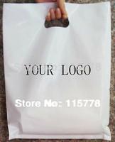 30*40cm(11.8' *15.7') Punch handle shopping bags with custom logo 30cm /plastic packing bags with logo printed / bag custom logo