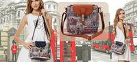 High quality Fashion Handbags women bags Vintage Punk Shoulder bags  retail (WHB149)