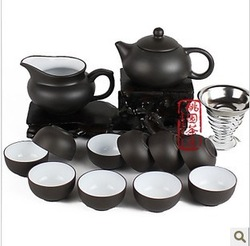 Top kungfu tea Best china Yixing purple clay tea set set teapot cup ceramic set(China (Mainland))