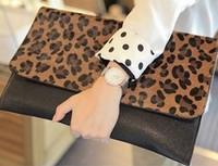 2013 NEW lady evening bag Clutch  star handbags Korean leopard horsehair handbag envelope bags wholesale  BBG0108