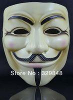 5PCS/lot Mask halloween SALE v  vendetta  mask yellow  white wholesale