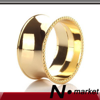 2014 Free Shipping Factory Direct Sale Alloy Circular Gold Silver Napkin Rings For Weddings  High Quality Napkin Holder