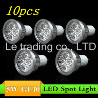 10pcs/lot GU10 5X1W 5W Led Lamp Spotlight 85V-265V Led Light downlight High Power Free shipping