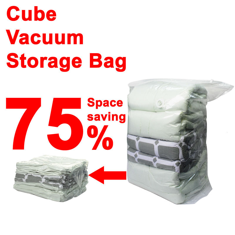 6PCS Cube Vacuum Storage Bag for Bedding Storage Closet Organizer/organizador,vacuum garment space bag as seen on TV 100*80*38cm(China (Mainland))