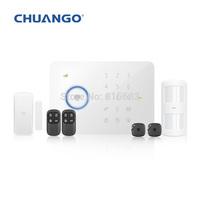 Chuango CG-G5 50 Zones Touch Keypad GSM Phone SMS Wireless Home Security Burglar Alarm System G5 ( 315MHZ )