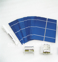 40PCS High power 2X6 solar cell +flux pen +tab wire+bus wire +free shipping, DIY solar charger for 12v battery