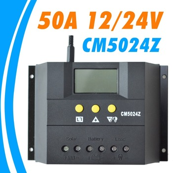 Juta 50A 12V 24V CM5024Z Solar Controller PV panel Battery Charge Controller Solar system Home indoor use New Juta CM5024Z