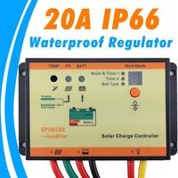 20A solar Charge controller IP66 waterproof 12V 24V battery charge regulator epsolar LS2024RP solar lighting controller New
