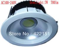 Plastic COB 700lm 7W Led Light Downlight AC 100-240V