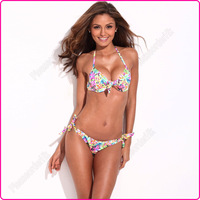 2013 New Women Vivid Color Beachwear Bikini Set Swimsuit Swimwear Bathing Suit S/M/L Free Shipping