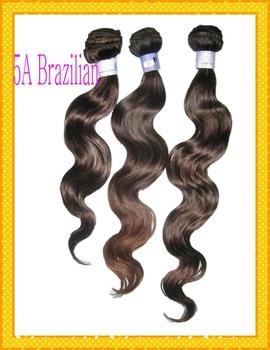 6A WestKiss Brazilian virgin Body wave hair 3pcs/lot ,machine weave wefted, Natural dark black/brown tinted