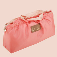 Free shipping high quality new fashion elegant watermelon red ruffles office shopping hand-carried ladies storage cosmetic bags