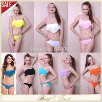 2015 Sexy Tassel Padded Boho Fringe Vintage Binikis Top Strapless Dolly Bikini Swimwear For Women 8 Colors 16093