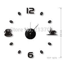 cheap red kitchen clock