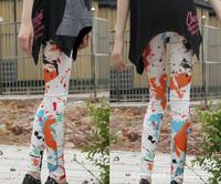 Wholesale 2014 New Leggings For Women Arrival Casual Printing Legging Knitted Thick Slim Leggings Super Elastic