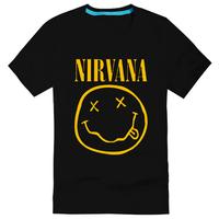 2014 Magic smiley nirvana band short-sleeve T-shirt nirvana male casual short-sleeve T-shirt $ 14.5 Free shipping