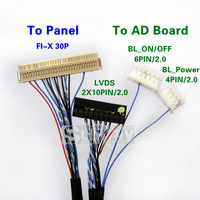 """10.1"""" 1ch 6bit LVDS Cable for LED panel JAE FI-X series 30P HSD100IFW1 CLAA102NA0ACW"""