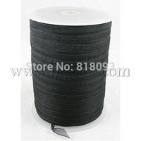 Additional Discounts Organza Ribbon,  Black,  6mm wide,  500yd/roll