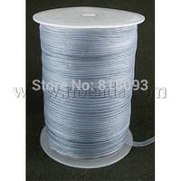 Organza Ribbon,  Gray,  6mm wide,  500yd/roll