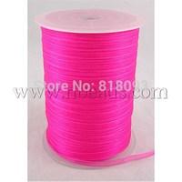 Organza Ribbon,  mediumvioletred,  6mm wide,  500yd/roll