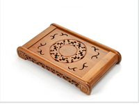 bamboo tea tray 49*29*7cm storage and drainage water tea board plate kungfu drawer coffee tray