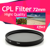 72mm Double Thread CPL Circular Polarising Filter for Canon 7D 15-85mm lens