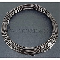 Aluminum Wire,  Brown,  about 1.5mm in diameter,  6m/roll