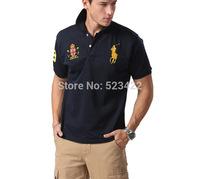 2014 Fashion brand Logo Men Shirts For Mens Casual T Shirts Men's brand T-Shirt Plos t shirt Tops & Tees