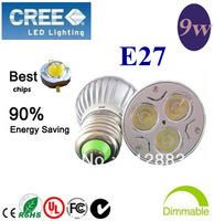 10pcs/lot  Home Garden E27 ( GU10 MR16 ) 3X3W 9W  Energy Saving 90% LED Light Bright Bulb Spotlight Light 85V-265V 110V 220V