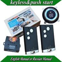 NEW Smart car alarm ,PKE car security system,high quality push start button,remote start function,shock alarm,flip key alarm
