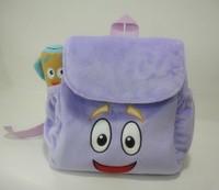 10pcs/lot kids backpacks,dora backpack the Explorer Plush Backpack Child PRE School Bag Toddler Size New  Wholesale and Retail