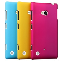 Free Shipping! High Quality Rubberized Hard Matte Case for Nokia Lumia 720 Matte Rubber Case, NOK-003