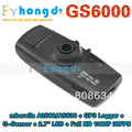 "In stock!Car DVR Recorder GS6000 with Ambarella A2S60/A5S30 + GPS Logger + G-Sensor + 2.7"" LCD + Full HD 1080P 30FPS"