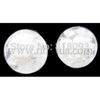 Handmade Luminous Lampwork Beads,  Round,  White,  10mm,  Hole: 2mm