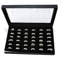 Stock Deals Stainless Steel Rings,  Engagement Rings,  Valentine Gift,  Mixed Size,  Silver Color,  Size: about 6mm wide