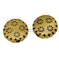 Tibetan Style Beads,  Lead Free,  Flat Round,  Antique Golden Color,  Size: about 10mm in diameter,  3mm thick,  hole: 1mm