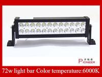 Hot  Selling 72W 12V 2.7KG SUV light bar