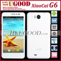Newest Arrival Unlocked MTK6589 Quad Core Android Phone Xiaocai G6 HD IPS Screen 1G RAM+4G ROM 13 MP Camera Wifi 3G In Stock