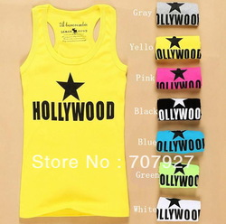 7 Color Fashion Sleeveless Women's Casual Tank Top Vests T-shirt(China (Mainland))