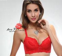 Free Shipping Thicken Cingulate Adjustment Super Gather Water Bag Massage Lace Bra Lingerie Underwear Push Up Bras For Women