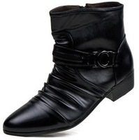 2013  fashion spring and autumn new arrival fashion high-top shoes men leatherboots the tide commercial leather