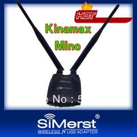 kinamax Password cracking,Free WIFI 150M 11N High Power 500mw Wireless WIFI USB adapter,high power wifi lan card Free Shipping