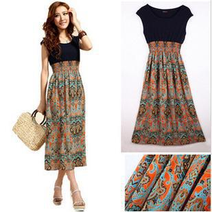 Ms Bohemian dress/Bohemian dress/free shipping