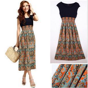 Ms Bohemian dress/Bohemian dress/free shipping