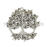 Alloy Pendants,  Cadmium Free & Lead Free,  Tree of Life,  Antique ,  Tree,  Antique Silver,  50x46x2mm,  Hole: 3mm