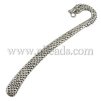 Stock Deals Tibetan Silver Bookmark,  Lead Free and Cadmium Free,  Antique Silver,  Nickel Free,  about 12.3cm long