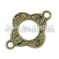 Tibetan Style Connectors,  Flower,  Lead Free,  Antique Bronze,  21x16x2mm,  Hole: 2mm
